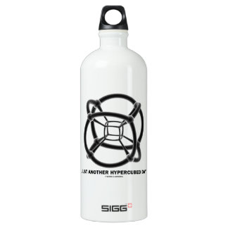 Just Another Hypercubed Day (4-D Polytope) Water Bottle