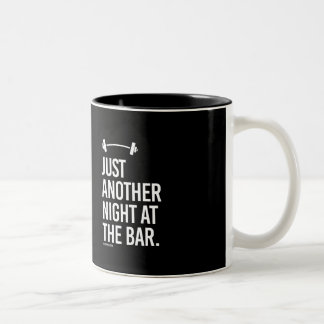 Just another night at the bar -   Guy Fitness -.pn Two-Tone Coffee Mug