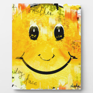 Just another smiley face plaque