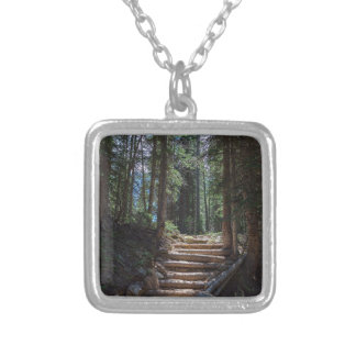 Just Another Stairway To Heaven Silver Plated Necklace