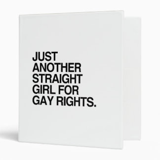 JUST ANOTHER STRAIGHT GIRL FOR GAY RIGHTS -.png Vinyl Binder