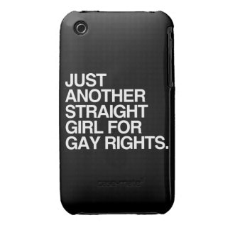 JUST ANOTHER STRAIGHT GIRL FOR GAY RIGHTS - png iPhone 3 Case-Mate Case