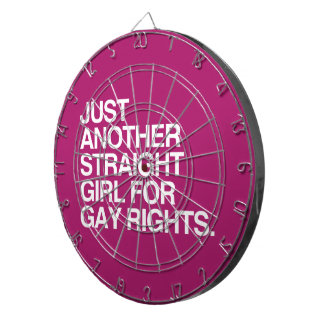 JUST ANOTHER STRAIGHT GIRL FOR GAY RIGHTS -.png Dartboard With Darts
