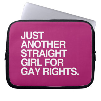 JUST ANOTHER STRAIGHT GIRL FOR GAY RIGHTS -.png Computer Sleeves
