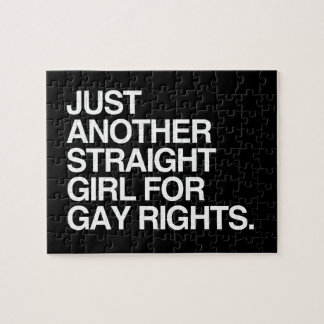 JUST ANOTHER STRAIGHT GIRL FOR GAY RIGHTS -.png Jigsaw Puzzles