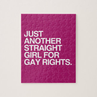 JUST ANOTHER STRAIGHT GIRL FOR GAY RIGHTS -.png Puzzles