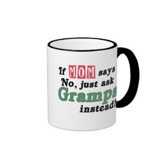 Just Ask Gramps Ringer Coffee Mug