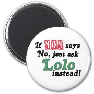 Just Ask Lolo 2 Inch Round Magnet