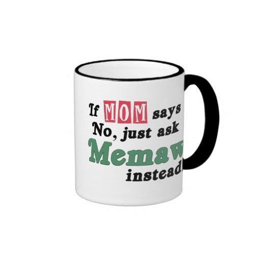 Just Ask Memaw Ringer Mug