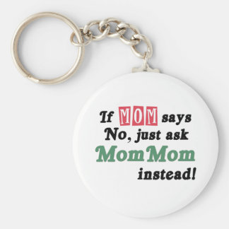 Just Ask MomMom Keychain