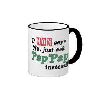 Just Ask PapPap Ringer Mug