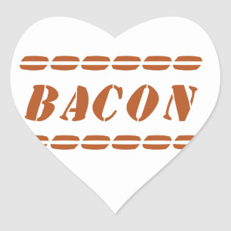 Just Bacon Heart Sticker