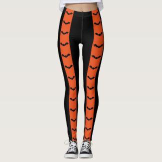 Just Batty Halloween Stripes Leggings