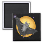 Just Batty  Harvest Moon 2 Inch Square Magnet
