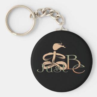 Just Be 5 Basic Round Button Keychain