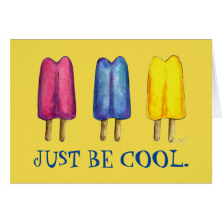 Just Be Cool Summer Twin Pop Popsicle Ice Lolly Card