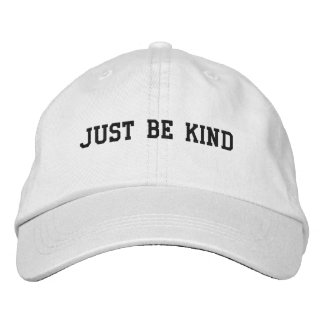 Just Be Kind Adjustable Hat Embroidered Baseball Caps