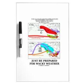 Just Be Prepared For Wacky Weather ENSO Dry-Erase Whiteboard