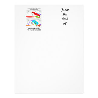 Just Be Prepared For Wacky Weather ENSO Customized Letterhead