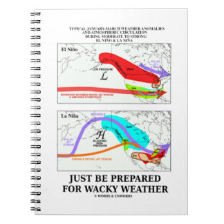 Just Be Prepared For Wacky Weather ENSO Spiral Notebook