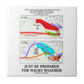Just Be Prepared For Wacky Weather ENSO Small Square Tile