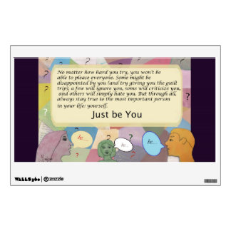 Just be you wall decal