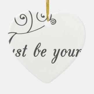 Just-be-Yourself1.jpeg Adorno De Cerámica En Forma De Corazón