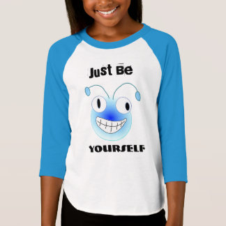 Just Be Yourself Face Fun Eyes Star Sports Team T-Shirt