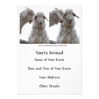 Just Be Yourself Goats Personalized Invites