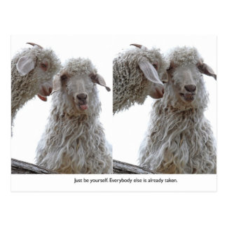 Just Be Yourself Goats Postcard