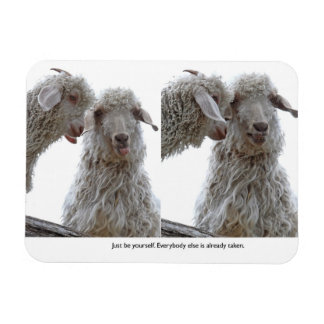 Just Be Yourself Goats Rectangle Magnet