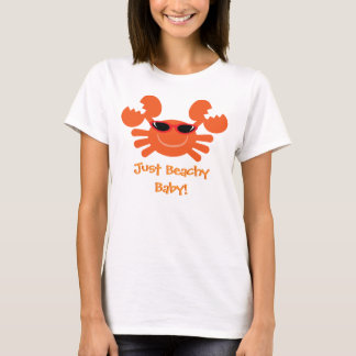 Just Beachy Baby! Orange Crab With Sunglasses T-Shirt