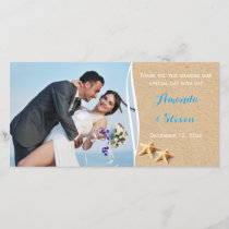 Just Beachy Photo Thank You Card