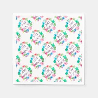 Just Beachy Tropical Flower Luau Party Supplies Paper Napkin
