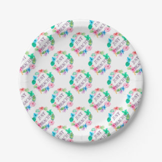 Just Beachy Tropical Flower Luau Party Supplies Paper Plate