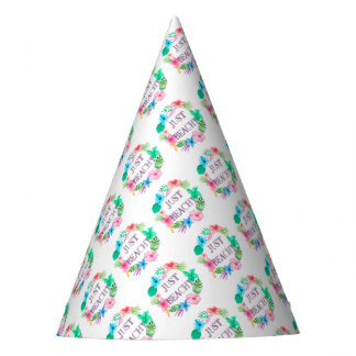 Just Beachy Tropical Flower Luau Party Supplies Party Hat