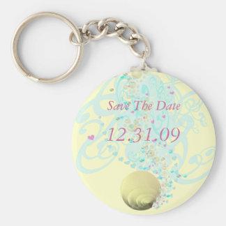 Just Beachy Wedding Keychain
