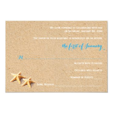 Beach Themed Just Beachy Wedding RSVP Template