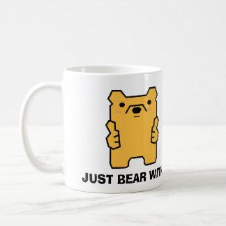 Just Bear with It Thumbs Up Bear Puns 11 Oz Mug