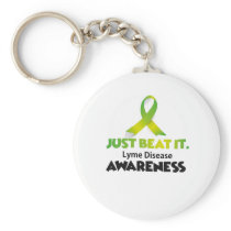 JUST BEAT IT Lyme Disease Awareness Keychain