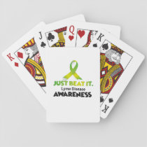 JUST BEAT IT Lyme Disease Awareness Playing Cards