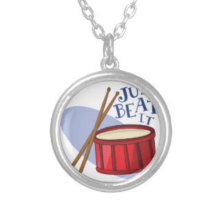 Just Beat It Round Pendant Necklace