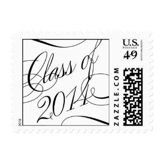 Just Beautiful Graduation Postage Stamp - Black Postage Stamps