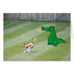 Just Because Card, Basset & Fire Breathing Dragon Card