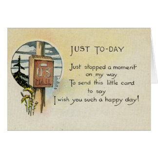 Just Because Greeting Card (1921)