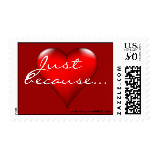 Just because heart expressions postage