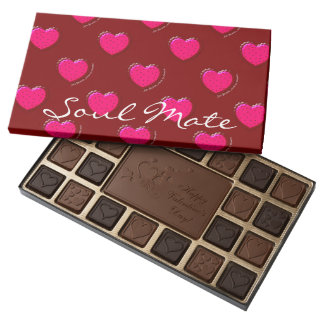 Just Because Soul Mate Personalized Chocolates,Red 45 Piece Assorted Chocolate Box