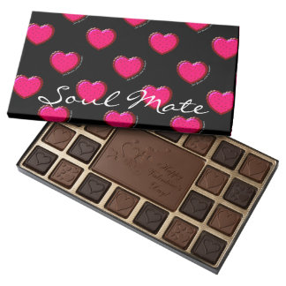 Just Because Soul Mate Personalized Chocolates 45 Piece Assorted Chocolate Box