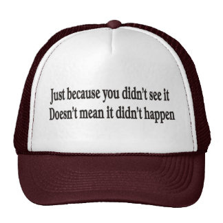 Just because you didn't customizable hats and caps