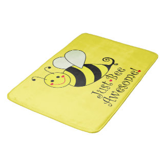 Just Bee Awesome Yellow Bumble Bathroom Mat